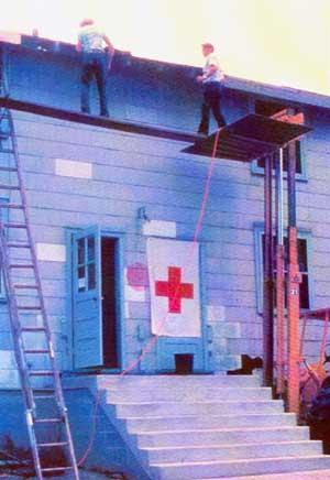 Makeshift unsafe scaffold